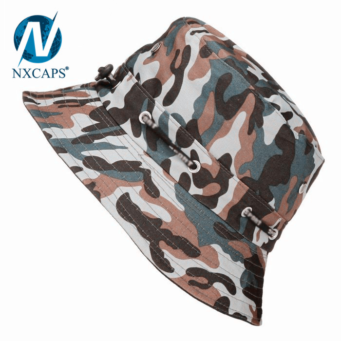 Desert Camo Military Hunting Army Fishing Bucket Jungle Cap Hat M L XL plain sun caps