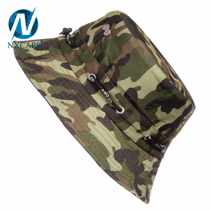 Soft canvas fishing hat custom bucket hats men fisherman hat camo boonie hats and caps wholesale