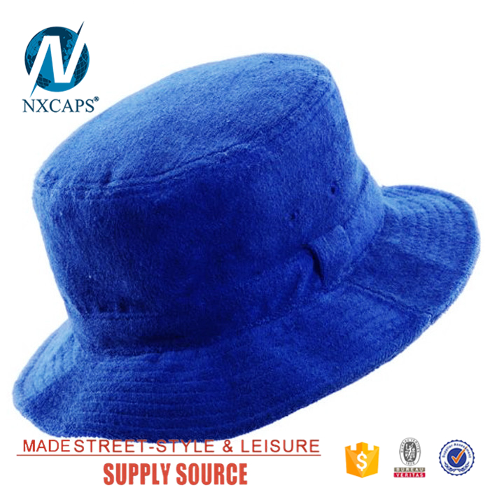 Wholesale 100 cotton child fishing bucket hats cheap terry towel bucket hat NEW Womens Bucket Boonie Hat Cotton Cap Fishing Hunting Outdoor Beach Sun Hat