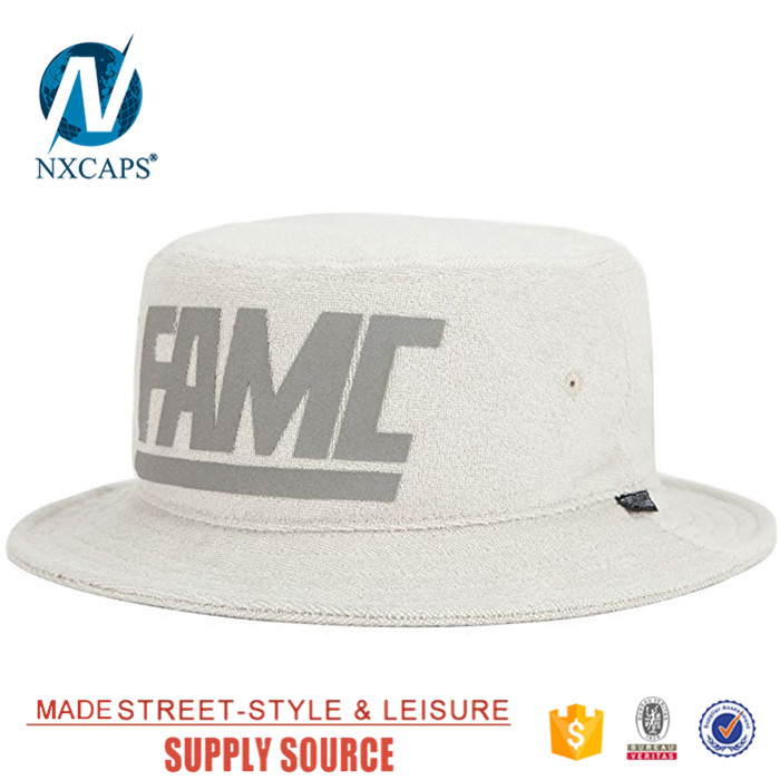Wholesale Hot Sale Design Your Own Cheap Custom label Terry Towel Bucket Hat
