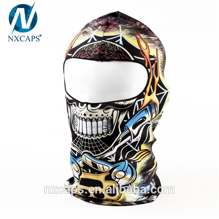Custom print skull balaclava military face mask camo balaclava ski face cover motorcycle masks wholesale