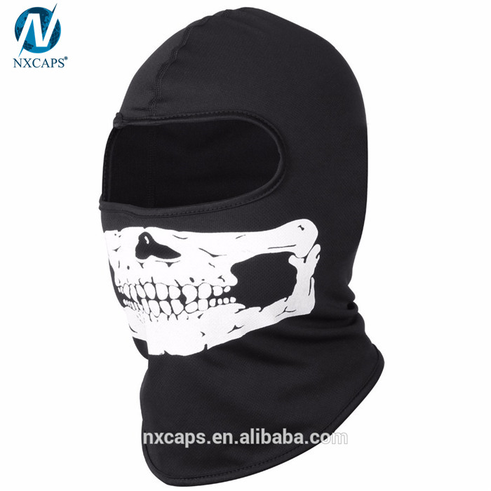 Custom print balaclava mask motorcycle skull face mask ski hood hat UV protect full face mask