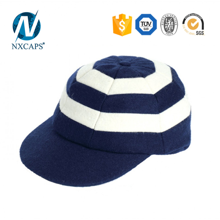 Striped Blank fitted cricket cap two colours Hunting Cap wholesales custom patch baggy cricket caps