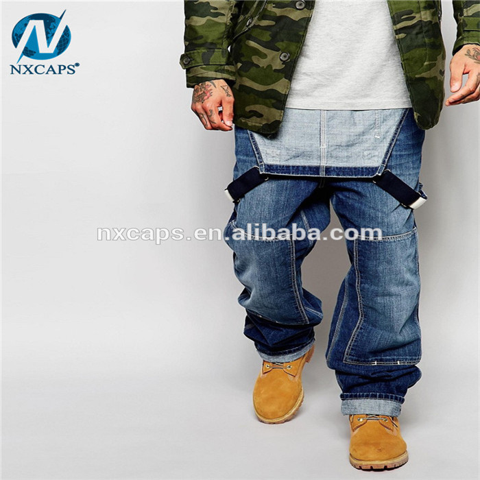 Trousers with braces safety bib pants Boys Jeans Pants For Men