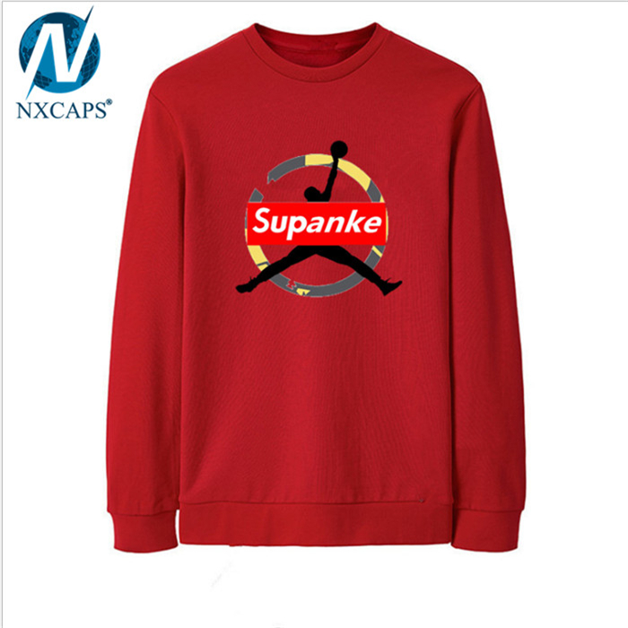Guangzhou New Arrival Factory 35% Cotton 65% Polyester Fashion Long Sleeve Hoodie