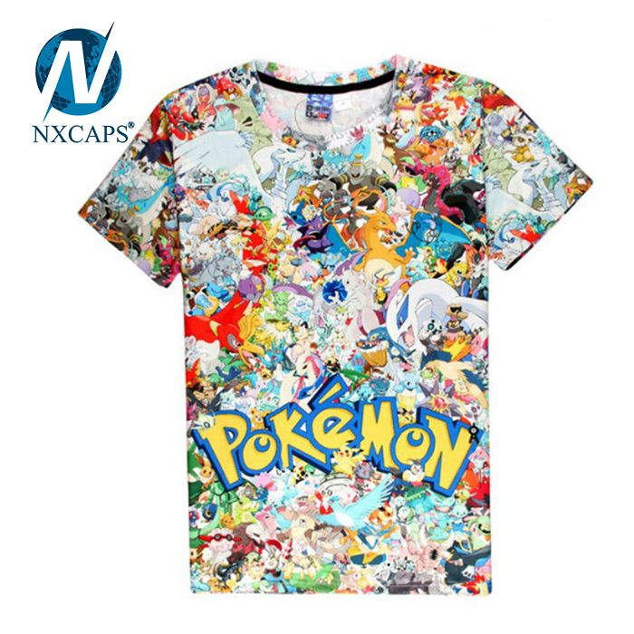 Hot Pokemon Go Short Sleeve O-neck T Shirt Cosplay Anime 3d Printing Pokemon Summer Clothing Men&women T-shirt