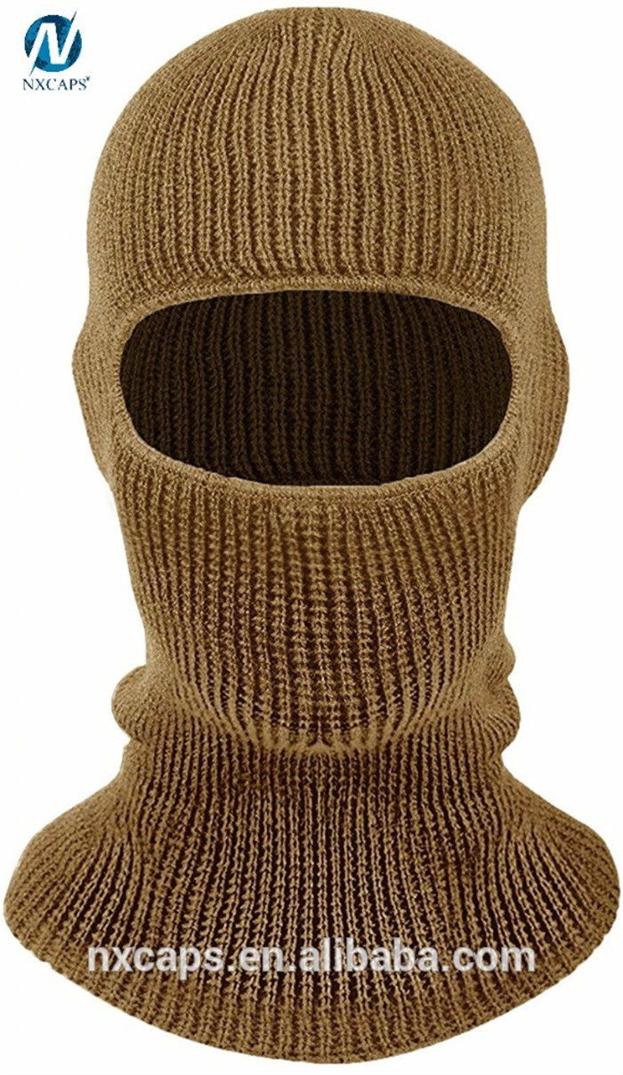 52bf6b5cab2 ... Thermal ski mask hat knitting pattern beanie full face cover knitted  cap warm winter face mask ...