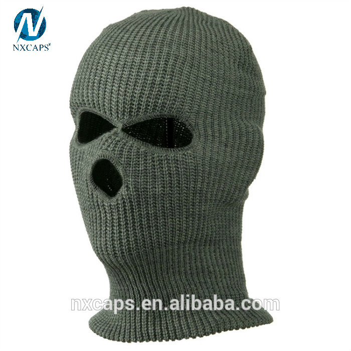 34395619d8d20 ... Wholesale 3 hole ski mask knitted balaclava face mask winter beanie hats  full face cover helmet ...