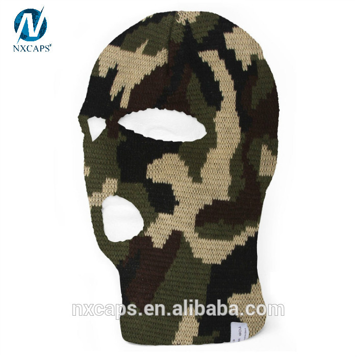 2e25d2327ef50 ... Camo ski mask hat knitting pattern balaclava beanie hat outdoor sports  knitted cap full face cover ...