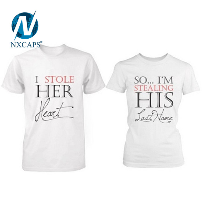 a01a2d9ee9 ... Couples print cotton t-shirt with 2017 factory bulk wholesale t shirts  custom graphic t ...