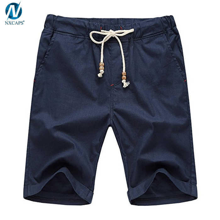 Comfortable mens shorts casual summer shorts adjustable drawstring short pants