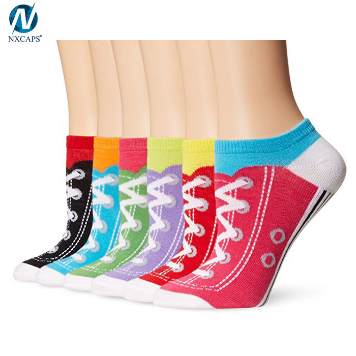 2018 New Women Character Socks Casual Cute No Show Shoes Pattern Low Cut Crazy Socks