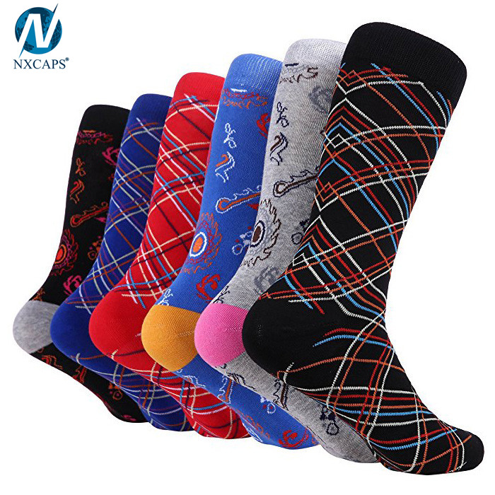 Soft Cotton Business Fun Colorful Crew Socks Gay Men