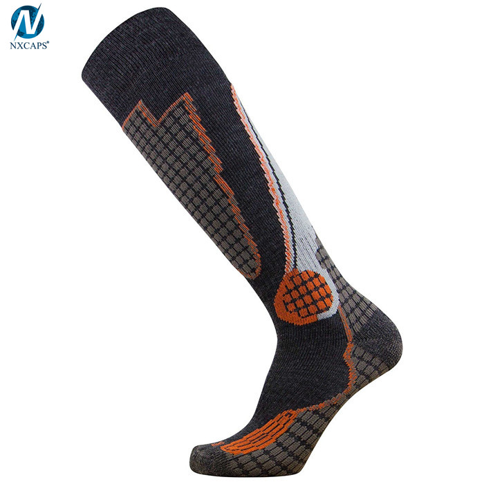 Winter Ski Socks Keep Warm Dry Over Calf Compression Stockings