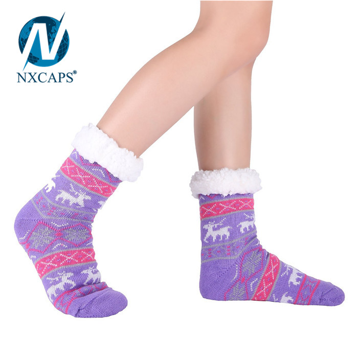 New arrival Warm Cozy fuzzy Fleece-lined socks Womens Soft Premium Thermal Double Layer Crew Socks