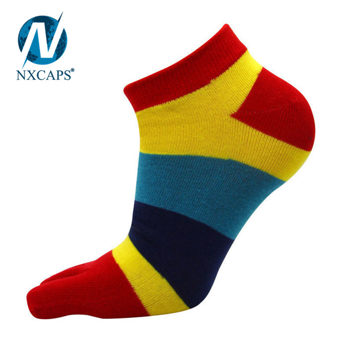 Iridescence 5 Finger Low Cut Thin Silk Stockings Five Fingers Ankle Socks
