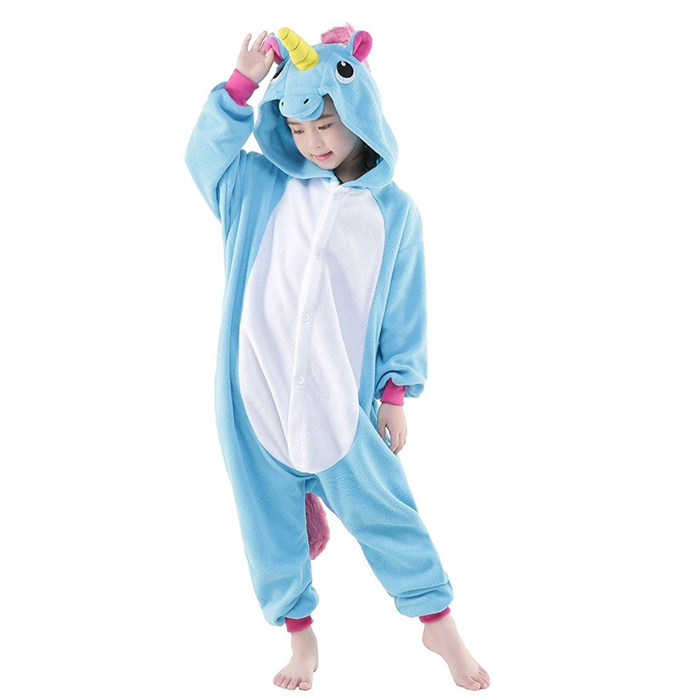 Children's Anime Pajamas Neutral Onesie Animal Costumes Cosplay Unicorn Pony Kig