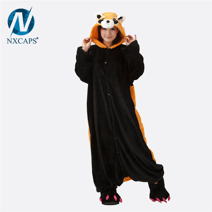 1d45f65cb Flap pajamas adult cartoon pajamas animal onesie Halloween Raccoon ...