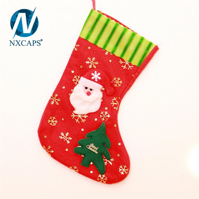 ... Custom Applique Christmas sock decoration red Knee Highs Sock best selling Christmas items Butterfly Festival stocking ...