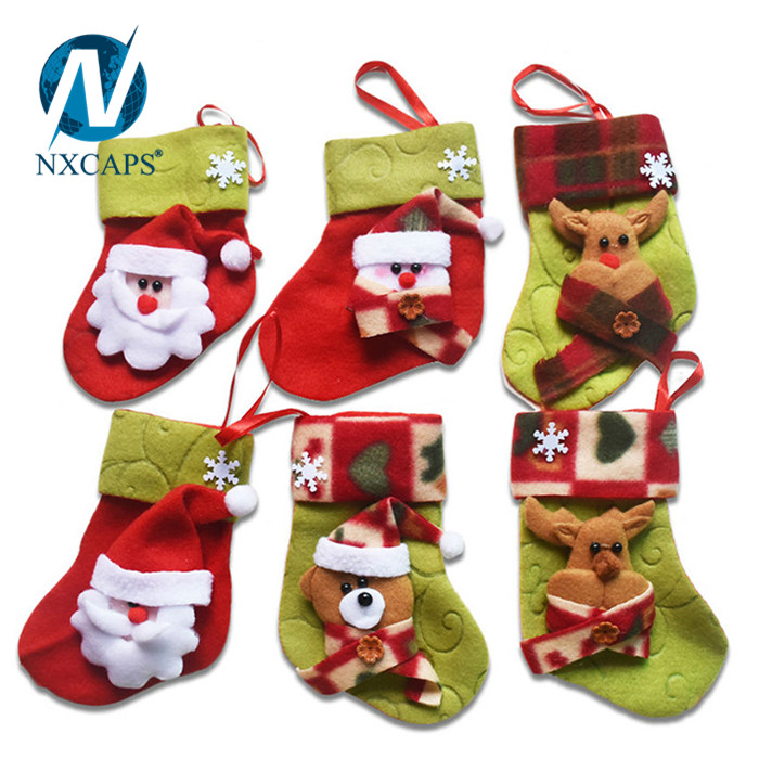 wholesale easy christmas kids gift bag big size christmas sock for decorationfelt christmas