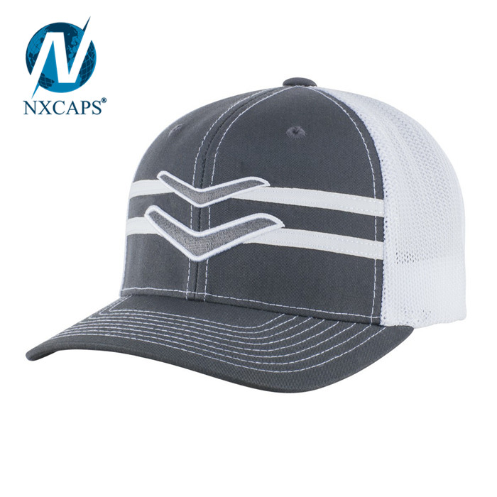 GRANDSTAND FLEX FIT HATS Striped mesh cap sun caps for women and men closed back closure snapback hat