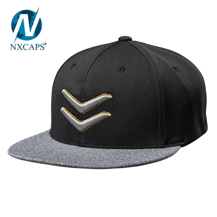Custom GOLD THREAD FLEX FIT trucker mesh caps snapback hat brim inserts plastic 6 panel trucker mesh caps