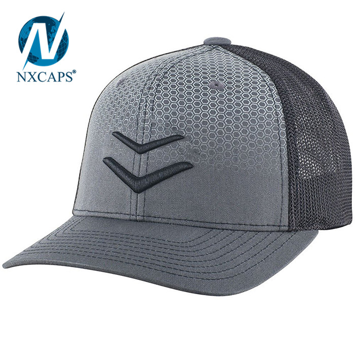 Phantom Fade Mesh Flex Fit Trucker Cap Custom private label trucker caps wholesale cap organic printing baseball hats