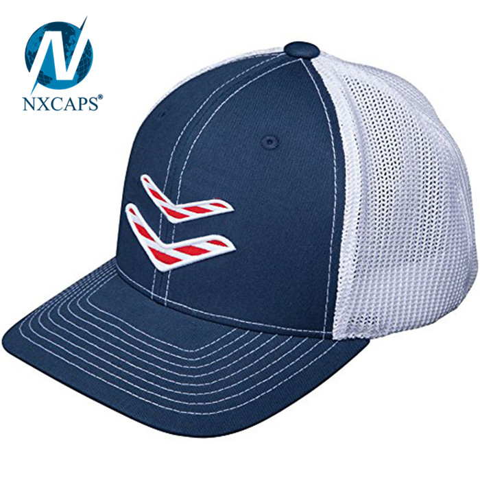 Sporting Goods USA Logo Flexfit Trucker Hat Custom private label baseball caps wholesale embroidery sports cap