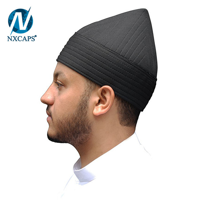 Million stock islamic crochet muslim prayer cap custom made quality male muslim turban cap for sale