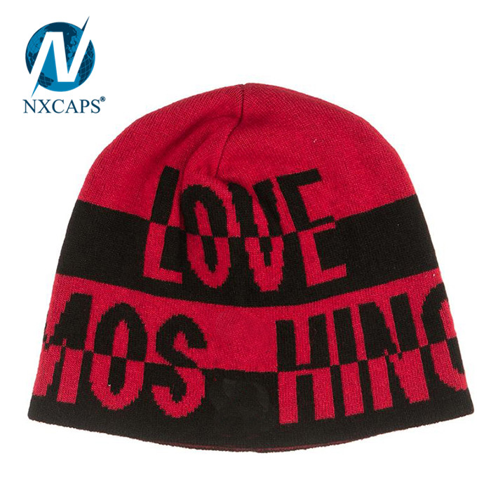 Spandex beanie hats USA flag patch plain women beanies gorro hat
