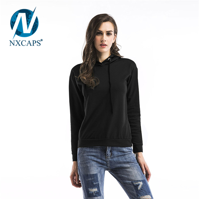 Hot Sales Cheap Fashion Custom Promotional Long Sleeve Crop Top Women Hoodies Blank Hoodies Women
