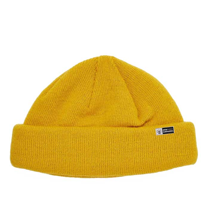 Blank Yellow Fishermen Knitted Beanie Hat Private Label