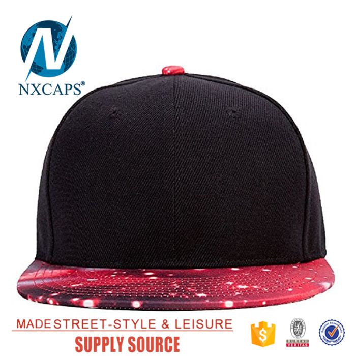 Galaxy brim snapback hat custom digital print hip hip hat,Galaxy brim snapback hat,hip hop cap,nxcaps shenzhen Fashion company