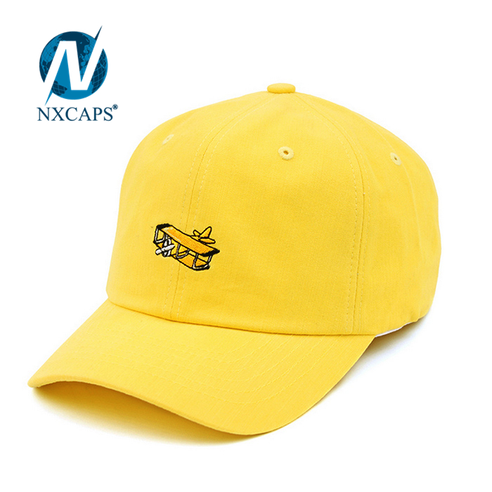Embroidery aircraft dad hat baseball cap and leisure hats Six panel sport cap wholesale six panel childrens cap