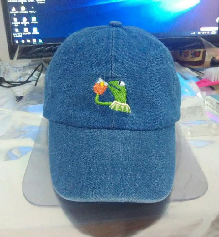 Dad hat KERMIT embroidery logo baseball cap napback hats with custom patch wholesale sport caps KERMIT 6 panel dad hats