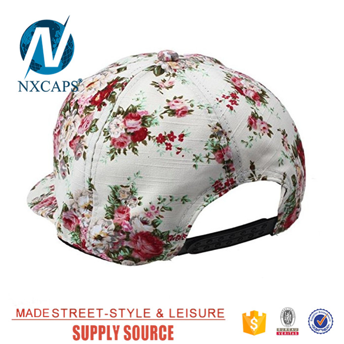 All over digital print floral snapback hat fashion women hip hop cap,floral snapback hat,all over print cap,floral hip hop hat,nxcaps, shenzhen Fashion company