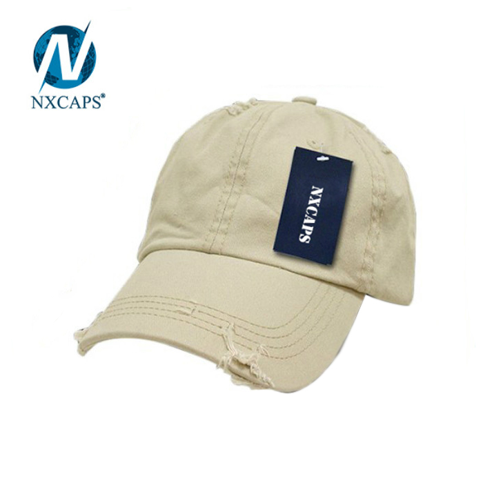 Wholesale Khaki Woven Label Logo Front camper Cap plain dad hat woven label camper snapback hat 100 cotton cap