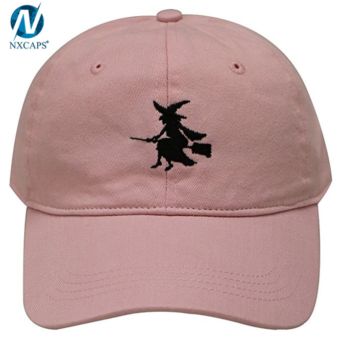 Pink girls 6 panel dad hat custom embroidery baseball cap 6 panel sun visor cap,dad hat,custom embroidery dad hat,pink dad hat,pink dad cap,6 panel dad cap,nxcaps shenzhen Fashion company