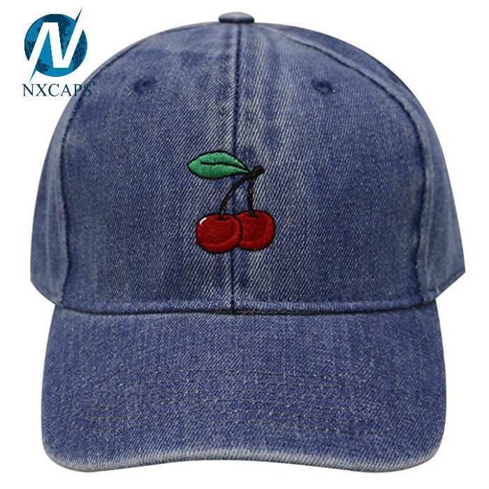 Custom embroidery denim dad hat plain baseball cap 6 panel hat wholesale,denim dad hat,denim baseball cap,denim dad cap,embroidery denim cap,6 panel denim hat,plain denim dad hat,nxcaps shenzhen Fashion company
