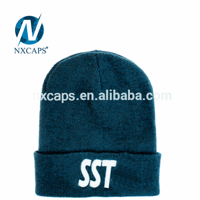 Beanies Embroidery logo beanie hat custom acrylic cuff ski knitted winter hat unisex travel outdoor fishing sport and fitness Multi function universal beanie with no ball