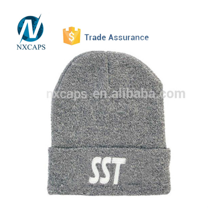 Custom soft winter mens beanie hat straight needle knit hat patterns ski hats Knitted beanie hat mens cuff ski beanies soft winter mens beanie hat custom pom pom beanie hats wholesale
