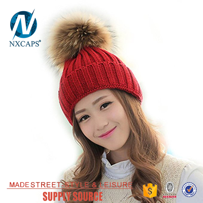 fur pom pom hats women hat winter gorro hat Free slouchy beanie knitting pattern knitted long beanie hat knit beanie hat with cable pattern