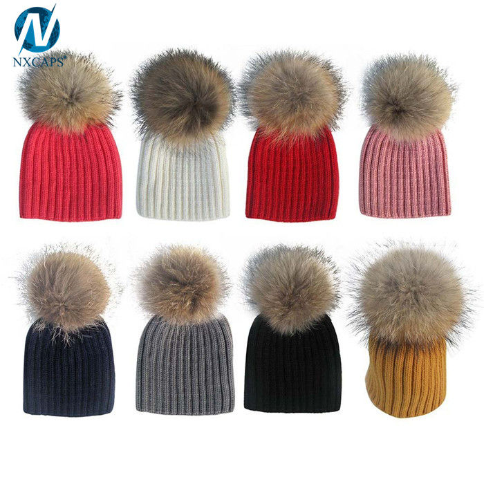 Detachable ball baby knitted beanies pom pom hat kids winter cotton beanie wholesale,baby knitted beanies,baby pom pom hat,kids winter hats,baby hat cotton winter,wholesale plain beanie,nxcaps shenzhen Fashion company