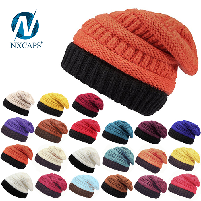 Beanie hat colorful acrylic knitted slouch girl colourful Hot selling ribbed knitted hats hip hop beanie hat Details made in china fun leather patch crochet beanie hat pattern beanie hat wholesale