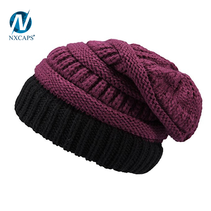 369047172a2 Hand knitted woolen cap custom metal logo spire beanie knitted slouch girl  colourful Hot selling ribbed knitted hats hip hop beanie hat
