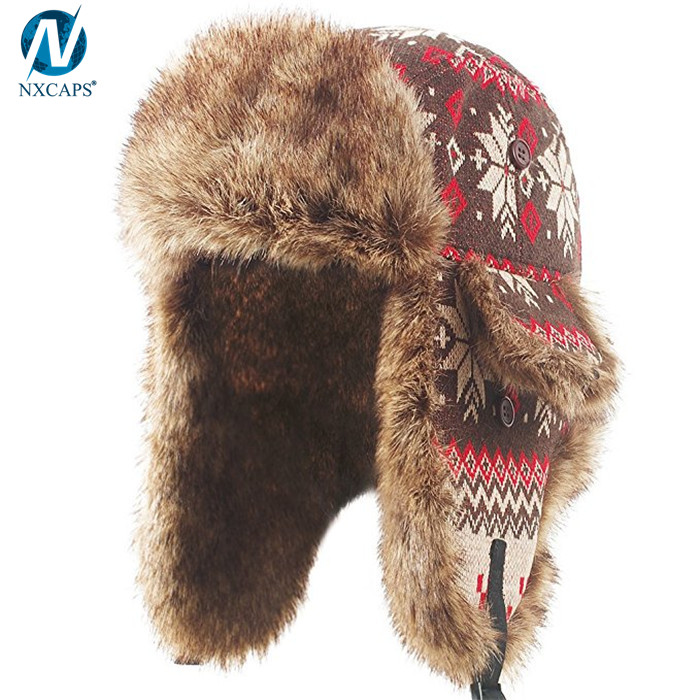 Custom russian ushanka hat classic winter hats trapper bomber hat,ushanka russian hat,russian hat,trapper hat,custom trapper hat,bomber hat,classic winter hats,,nxcaps shenzhen Fashion company