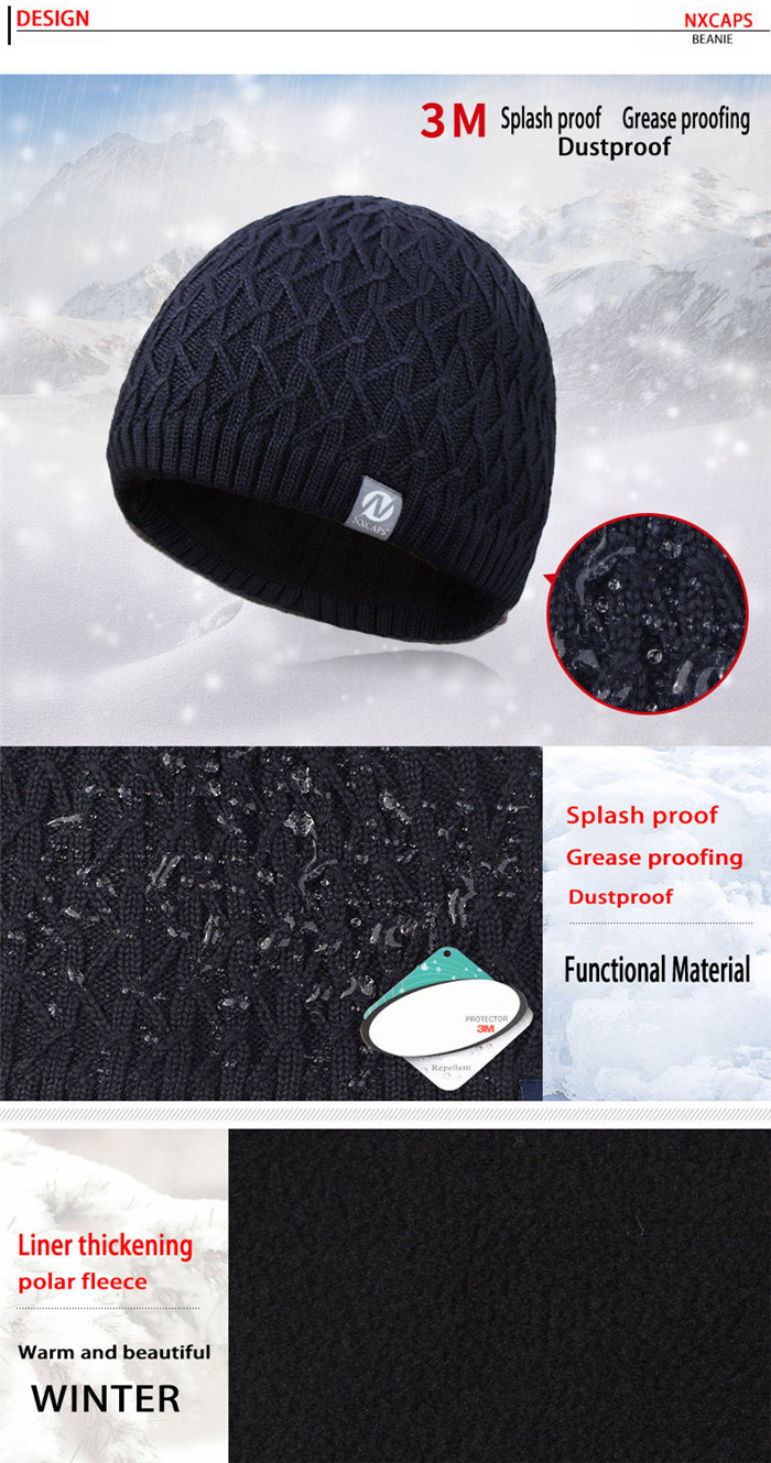 Wholesale mens beanie winter cap waterproof straight needle knit hat patterns baby knitting hats boys knitted beanie caps with woven label