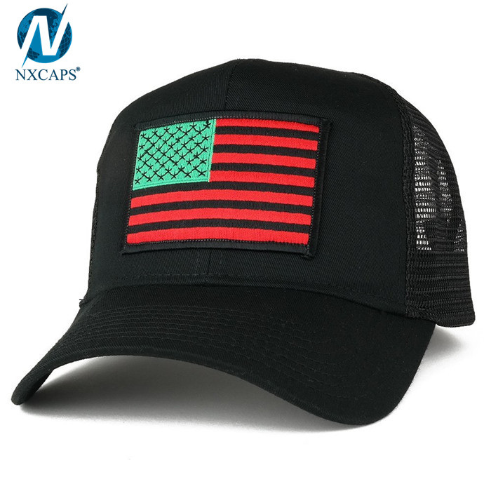 1d333ebc4ff97 ... Embroidery patch trucker cap custom mesh trucker hat plain American  patch flag trucker caps wholesale