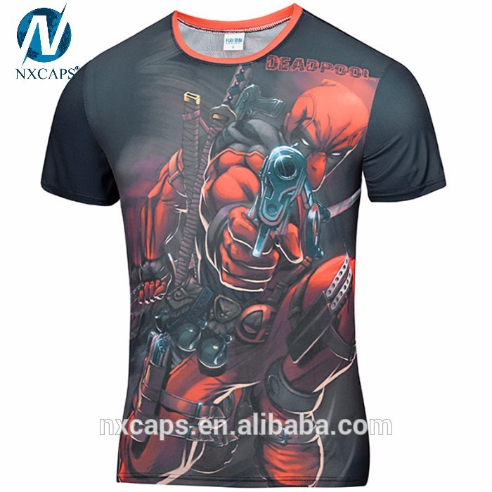 Deadpool T Shirt,character tshirts,camisetas,fitness tshirt women,Men Shirts,drifit sport t shirt,t shirt sport,sublimation sport t shirt,custom sport shirt,gym t shirt,golds gym t shirt,mens gym shirt,China Custom T Shirt,The Avengers T Shirt Printing,nxcaps,Blank Cotton T-shirt Printing