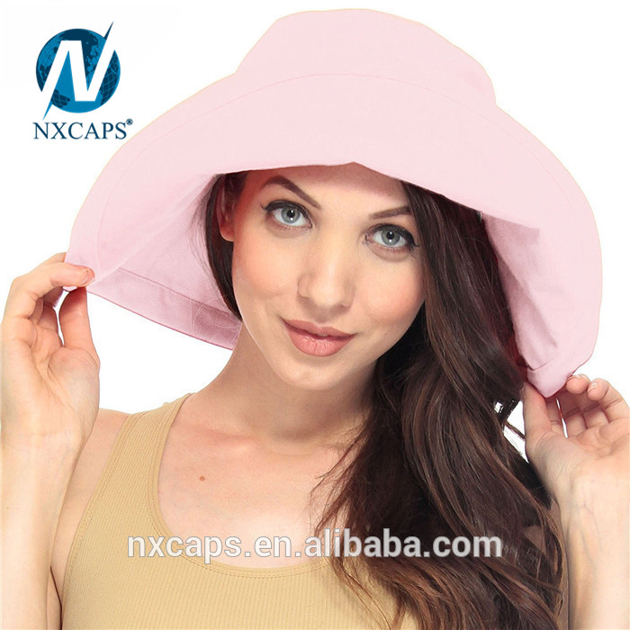 Wholesale summer sun hat beach hats women bucket hat 100% cotton hat wide fold up brim hats and caps Custom 100% cotton hat wide fold up brim hats and Fisherman caps.jpg